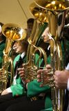 Jugar la tuba Imagen de archivo libre de regalías