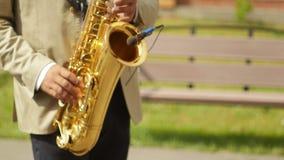 Jugar luz del sol del saxofón almacen de video