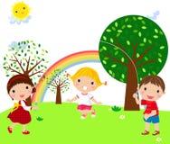 Jugar a niños Fotos de archivo libres de regalías