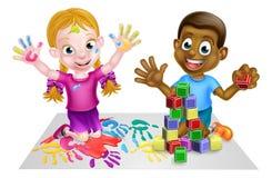 Jugar a niños Imagenes de archivo
