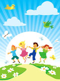 Jugar a niños Imágenes de archivo libres de regalías
