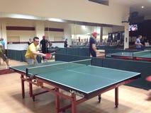 Jugar a ping-pong Foto de archivo libre de regalías
