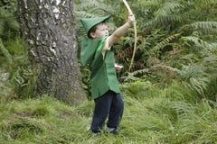Jugar a Robin Hood foto de archivo libre de regalías
