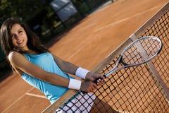 Jugar a tenis Imágenes de archivo libres de regalías
