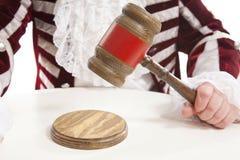 Juge à l'aide du marteau photo libre de droits