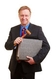 Juge avec le marteau et les fichiers Photo libre de droits