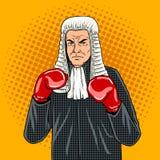 Juge avec le vecteur d'art de bruit de gants de boxe Photographie stock
