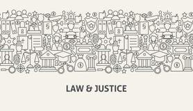 Juge Banner Concept de loi Images stock