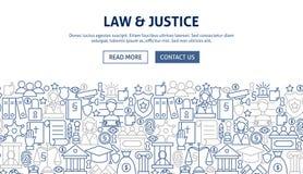 Juge Banner Design de loi Image stock