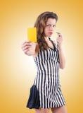 Juge de femme contre le gradient Photos stock