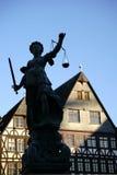 Juge Fountain Frankfurt photographie stock