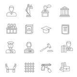 Juge Outline Icon Set Image libre de droits