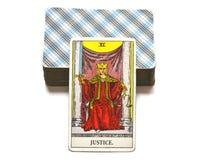 Juge Tarot Card Court et loi, légalités, contrats, documents illustration libre de droits