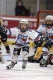Jugend-Eis-Hockey stockfotos