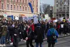 Jugend für climate8 lizenzfreie stockbilder