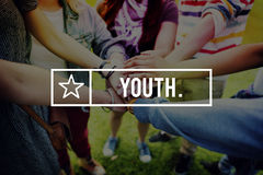 Jugend-junges Teenager-Generations-Adoleszenz-Konzept stockfoto