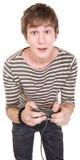 Jugend mit Spiel-Steuerung Lizenzfreie Stockbilder