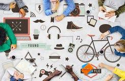 Jugend-Social Media-Technologie-Lebensstil-Konzept Stockfotos