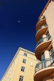 Jugend stylu balkony obraz stock