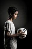 Jugendfußball-Spieler Stockfoto