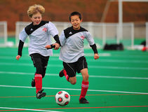 Jugendfußballteamgehilfen Lizenzfreies Stockfoto