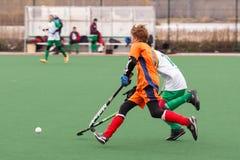Jugendhockeywettbewerb Stockfotografie