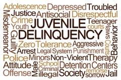 Jugendkriminalitäts-Wort-Wolke Lizenzfreie Stockbilder
