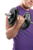 Jugendlich-anhebende Gewichte Stockfotos
