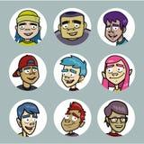 Jugendlich-Avataras Lizenzfreie Stockbilder