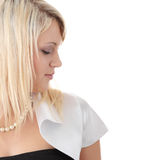 Jugendlich blonde elegante Frau Lizenzfreies Stockbild