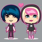 Jugendlich Emo Paare Lizenzfreie Stockbilder