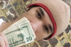Jugendlich Geld Lizenzfreie Stockfotos