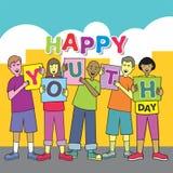 Jugendlich-glücklicher Jugend-Tag Lizenzfreie Abbildung