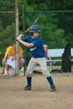 Jugendlich Jugend-Baseball-geschlagener Eierteig Stockfotos