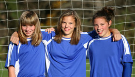 Jugendlich Jugend-Fußball-Freunde Lizenzfreie Stockfotos