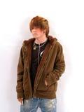 Jugendlich Junge mit MP3-Player Lizenzfreies Stockfoto