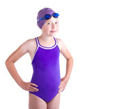 Jugendlich konkurrierender Schwimmer Lizenzfreies Stockbild