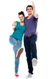 Jugendlich Liebespaare, die sich amüsieren Stockfoto