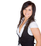 Jugendlich Mädchen, das mit Exemplar-Platz lächelt lizenzfreie stockbilder