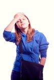 Jugendlich Mädchen, das Tasche hält Lizenzfreie Stockfotos