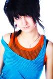 Jugendlich Mädchen in einem hellen Kleid Lizenzfreie Stockfotografie