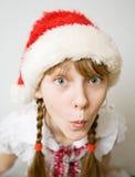 Jugendlich Mädchen im Sankt-Hut Lizenzfreie Stockfotografie