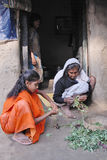 Jugendlich-Mädchen in landwirtschaftlichem Indien Lizenzfreie Stockbilder