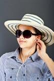 Jugendlich-Mädchen-Listen-Musik Lizenzfreie Stockbilder