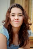 Jugendlich Mädchen mit Fluglage Lizenzfreie Stockfotografie