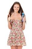 Jugendlich Mädchen mit Wasser lizenzfreie stockbilder