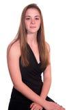 Jugendlich Mädchen Sitzaufmerksames Lizenzfreie Stockfotografie