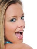 Jugendlich Mädchenabschluß oben Stockfoto