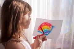 Jugendlich Mädchenfarben stockbilder