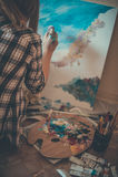 Jugendlich Mädchenmalerei Lizenzfreie Stockfotografie
